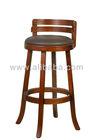 High bar wooden chair with swivel cushion