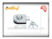 stainless steel door lock with iron keys for glass door