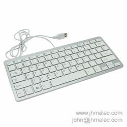 Compact USB Slim Computer Keyboard for Mac APPLE Microsoft Surface