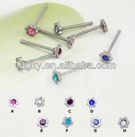 Jewelled flower nose pin diamond nose pin designs