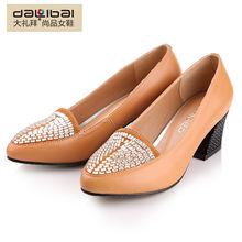 name brand wholesale high heel women leather dress shoe 2013