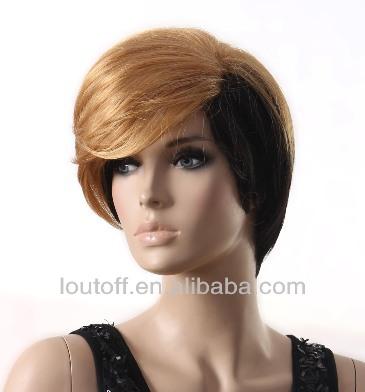 2014 New Fashion Rihanna Blonde And Black 10'' Straight Women ...