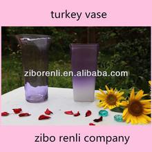 Art Decorative Glass Antique Romantic Purple Floral Cheap Tall Glass Vase