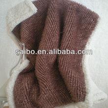 plain dyed 100% polyester fake fur blanket