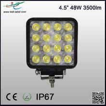 IP67 CE ROHS 9-30 volt 3500 lumens 4.5 inch 48w led work light bar
