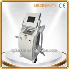 All in one ipl+elight+rf machine ND YAG laser tattoo removal machine