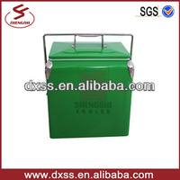Newest Green Classic Small Insulated Metal Cold Drinks Cooler Ice Bucket