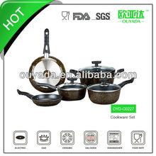 8pcs aluminum lava cooking stone pan