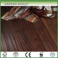 Waved finishing Dark Teak Wood Flooring Indonesia
