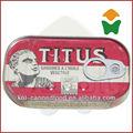 buena calidad de titus sardinas en aceite vegetal 125gx50tins