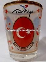 factory supply 1.5oz Turkiey shot glass/bar drinking glass/wine glasses