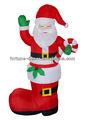 de alta 180cm santa navidad inflable de arranque