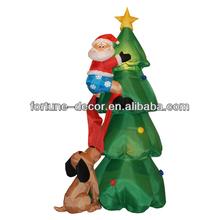 180cm high Christmas tree with Santa and dog