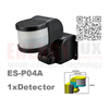 ES-P04A Infrared Motion Sensor for wall motion sensor PC material