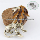 Traditional Color Will Be Random Lion Shape Design Alloy Korean Brooches