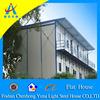 Double stories prefab modern steel house design