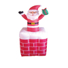 150cmH/5ft inflatable Christmas decoration Santa in chimney with up and down movement/animated santa