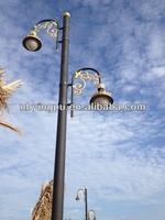 Q235 galvanized metal poles for lighting,cast iron garden lighting pole