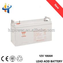Ups battery for computer, car, for yuasa 12V 100AH deep cycle ups battery, 100AH long cycle life lead acid battery