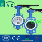 DIN wafer type bronze disc butterfly valve with CI and DI material