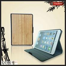 custom logo tablet pc case for ipad mini, bamboo case for tablet pc