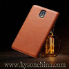 Smart view leather case covers for samsung galaxy note 3 mobile phone spare parts on hot sale