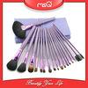msq 18 pz eleganti viola spazzola cosmetica set