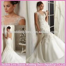WD2961 alibaba 2015 hot sale suzhou new style mermaid wedding dress