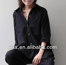 fashion casual collarless shirt for women