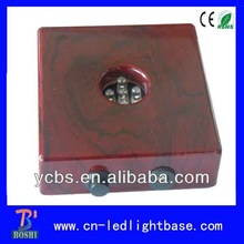 2014 hot sale wooden crystal bases for cakes