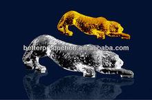 new design custom crystal mascot leopard model for celebration souvenirs