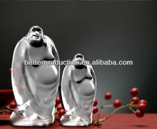 high quality custom crystal mascot figure of Buddha for celebration souvenirs