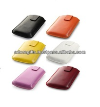 Popular leather covers for mobile / cell phone new leather cover / latest design mobile pouch bag