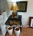 móveis de madeira de tronco de armazenamento e gabinete de design antigo tradicional tailandesa