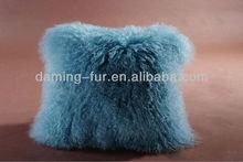2015 new arrial mongolian lamb fur pillow cover