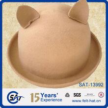 100% pure wool cat ear hat