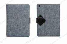 lovely canvas design leather case for iPad mini