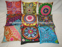 Traditional design ancient flower touch work cotton cushion cover 40*40cm
