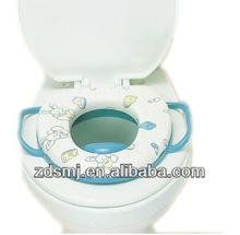 Cute rabbite closed front soft toilet seat for kids to training pet printed PVC toilet seat