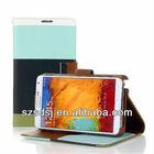 Shockproof flip kickstand wallet leather galaxy note 3 credit card holder case