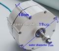 500w 12v/24v rpm baixo pequeno gerador de ímã permanente alternador