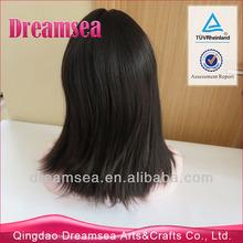 "Wholesale 16"" 18"" virgin jewish european human hair wigs"