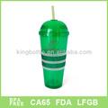 Venta caliente doble pared de plástico taza& taza