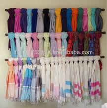 Cotton Peshtemal Turkish Bath Hamam Spa Yacht Fitness Gym Beach Towel - Hammam Peshtamal Pestemal Throw Sarong Blanket