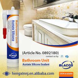 Non Yellowing Anti-Mildew Acetate 100% Top Quality Best Bathroom Sealant