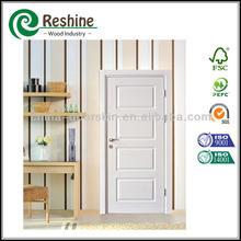 Molded wood interior white primier door skin