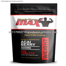 Muscle Power Max Foil Pack Acai Berry 500mg Vegeterian High Strength Tablets Wholesale Diet Supplements