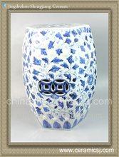 RYNQ47 Oriental blue and white garden stool
