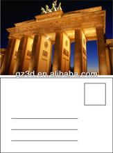 wholesale lenticular 3d printing 3d plastic postcards of roman pillars for sale