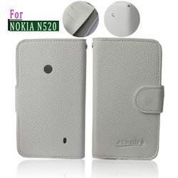 PU flip leather case cover for nokia lumia 520